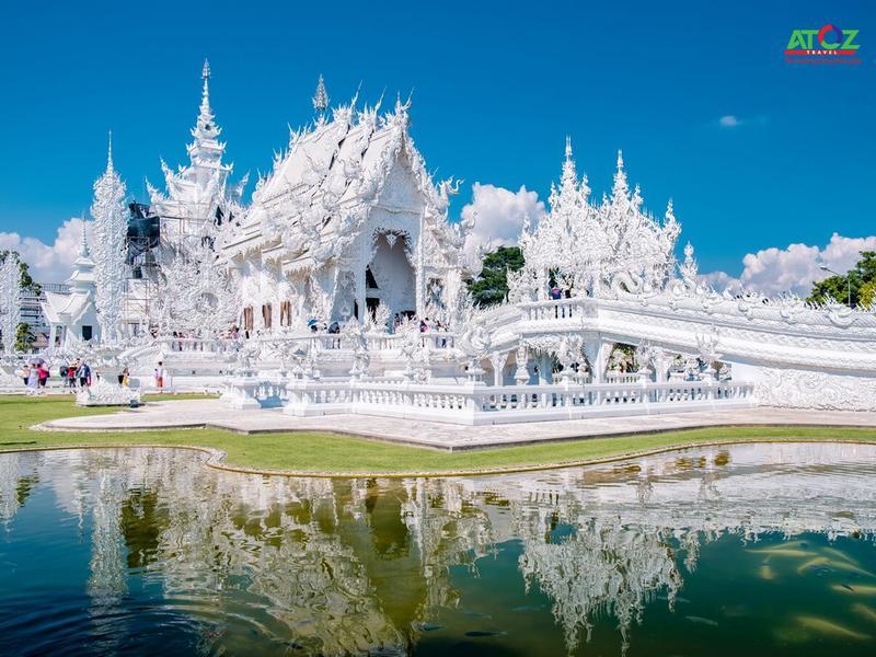 """Chùa Wat Rong Khun, ngôi chùa """"độc nhất vô nhị"""" với tông màu trắng """"độc tôn"""""""