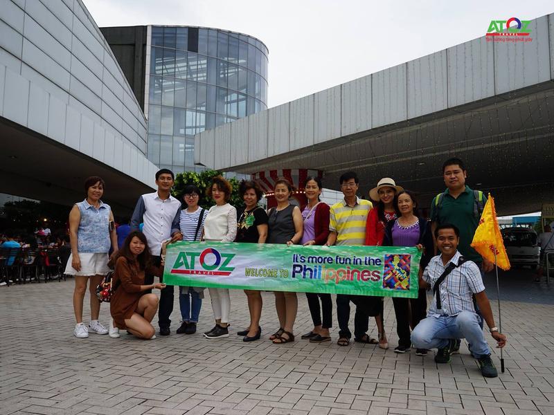 Đoàn tour Philippines ngày 5/1/2018