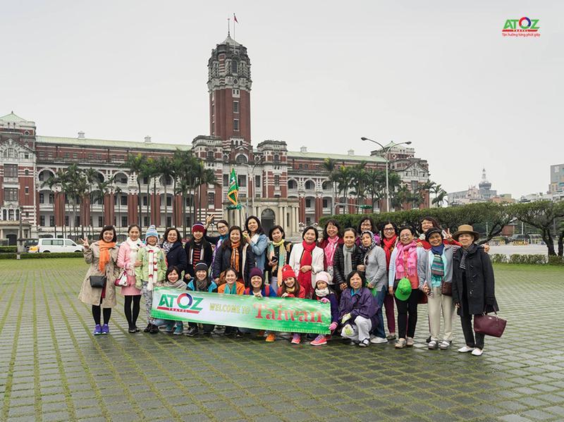 Đoàn tour Đài Loan ngày 24/4/2017