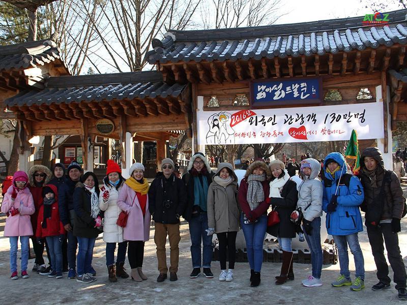 Đoàn tour trượt tuyết Hàn Quốc ngày 14-01-2017