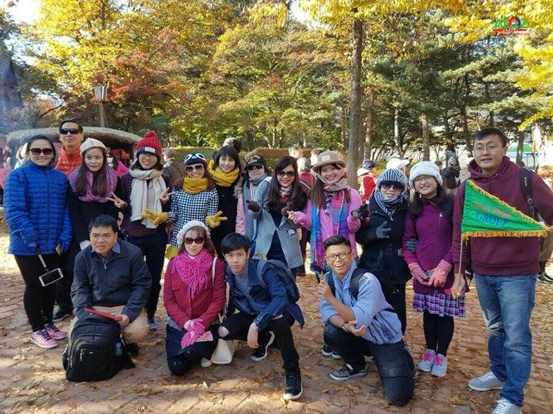 Đoàn tour du lịch Hàn Quốc ngày 28/10/2016