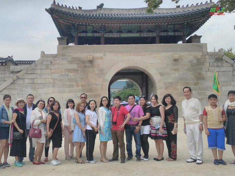 Đoàn tour Hàn Quốc ngày 27/09/2016