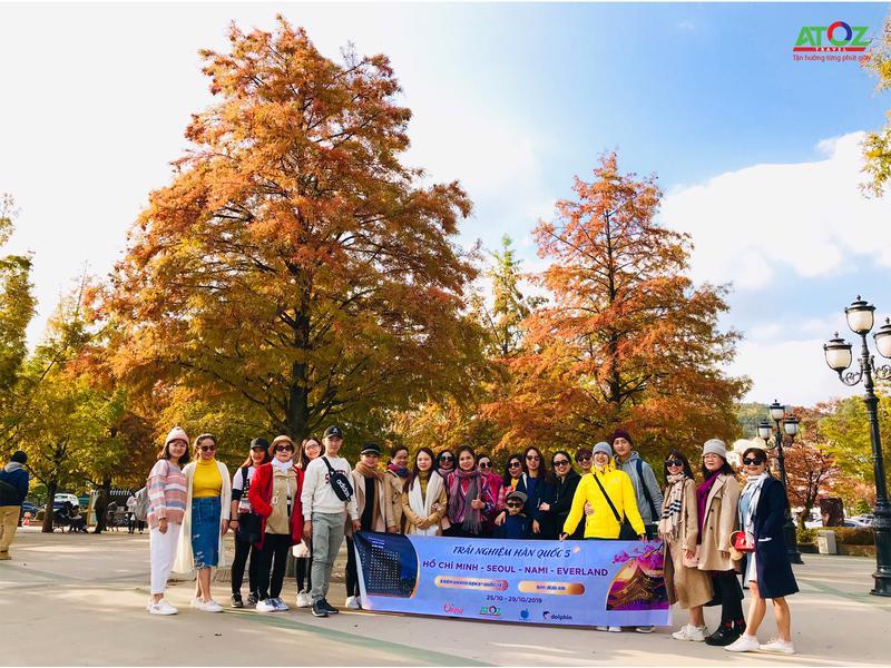 Đoàn Tour Hàn Quốc ngày 25/10/2019
