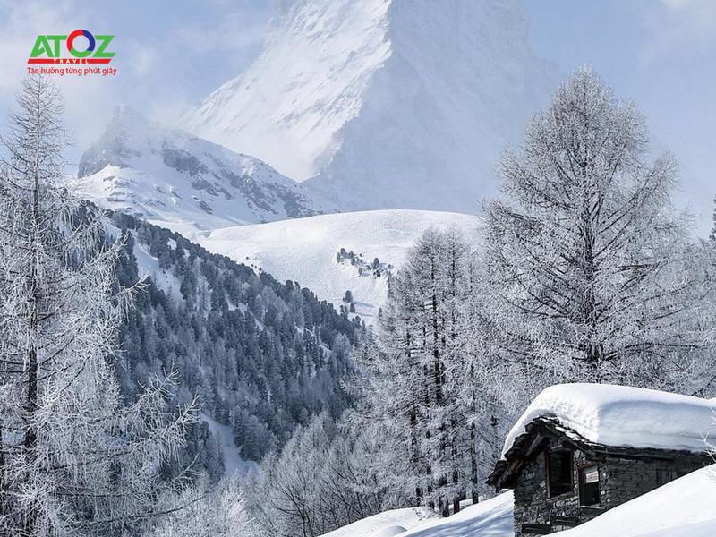 Đắm chìm trong khung cảnh lãng mạn Thụy Sĩ mùa đông
