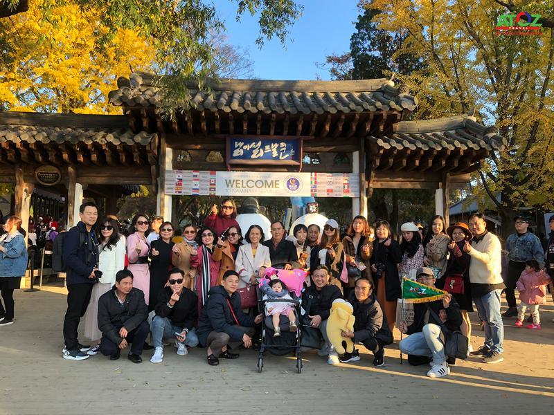 Đoàn tour Hàn Quốc ngày 29/10/2019
