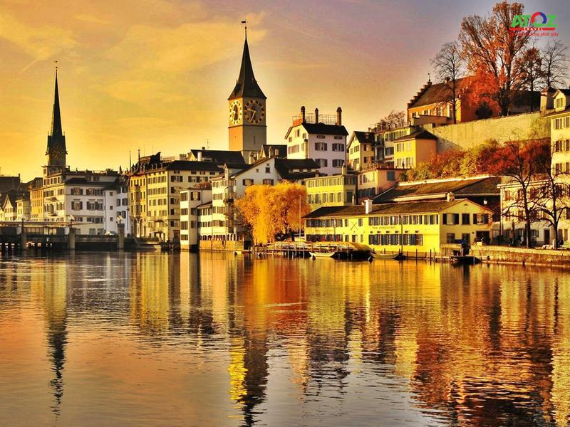 Say đắm với vẻ đẹp thơ mộng bên dòng sông Limmat Thụy Sĩ