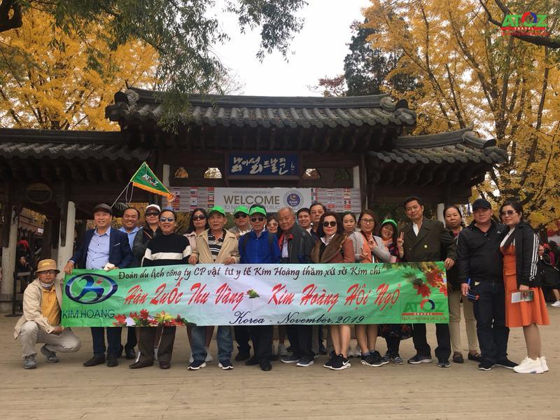 Đoàn Tour Hàn Quốc ngày 01 - 05/11/2019