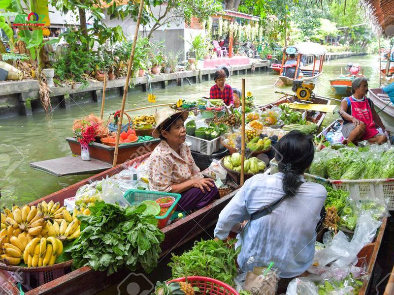"""Những khu chợ nổi """"đỉnh cao"""" gần ngay Bangkok, Thái Lan"""