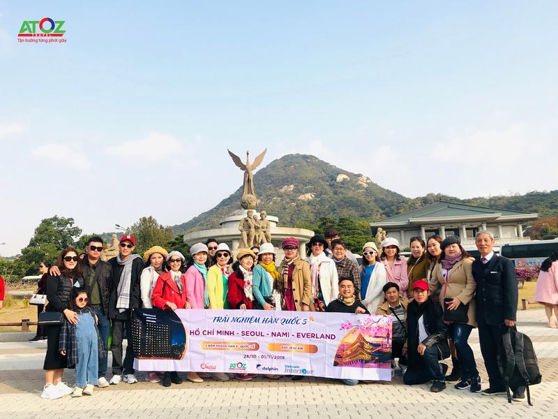 Đoàn Tour Hàn Quốc Ngày 28/10 - 01/11/2019