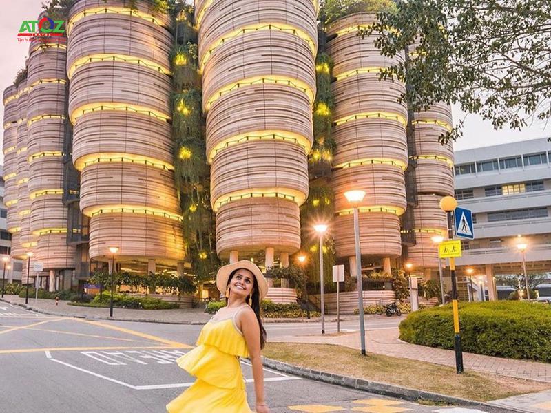 """Tòa nhà hình giỏ dim sum đang """"gây sốt"""" ở Singapore"""