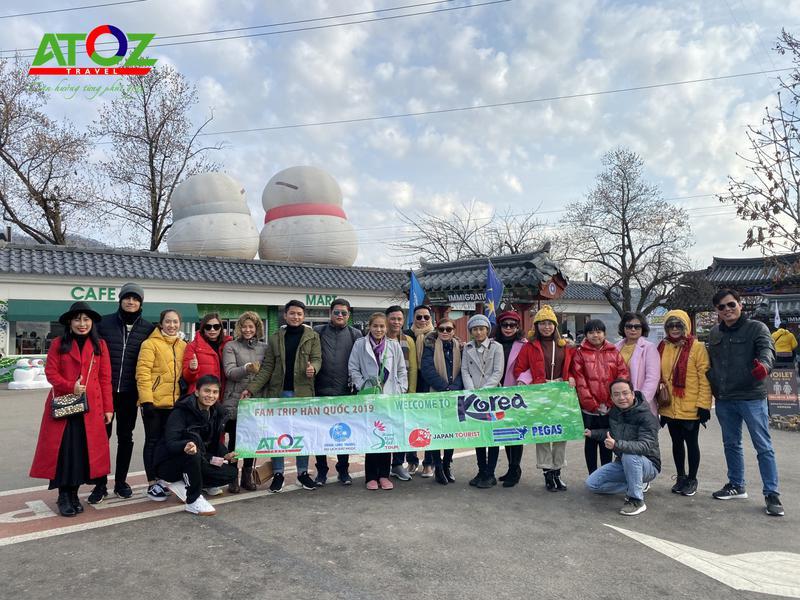 Đoàn Tour Hàn Quốc ngày 13/12/2019