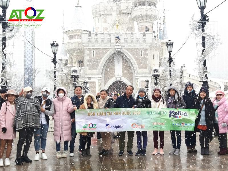Đoàn tour Hàn Quốc ngày 12/2/2020